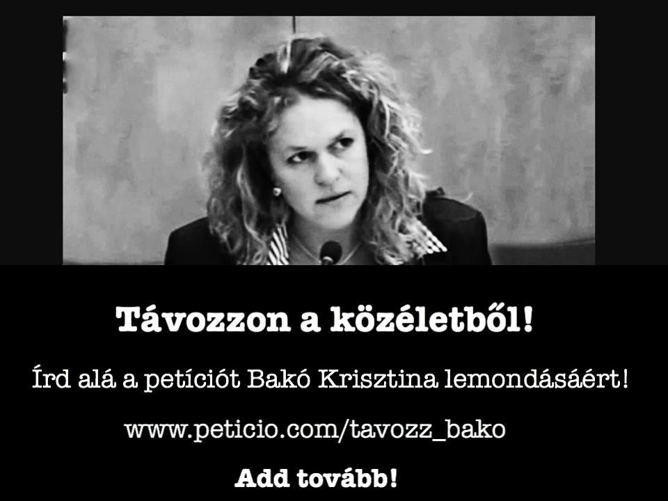 Bakó Krisztina Petíció