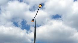 Lakótelepi buszvégállomás lámpa világít