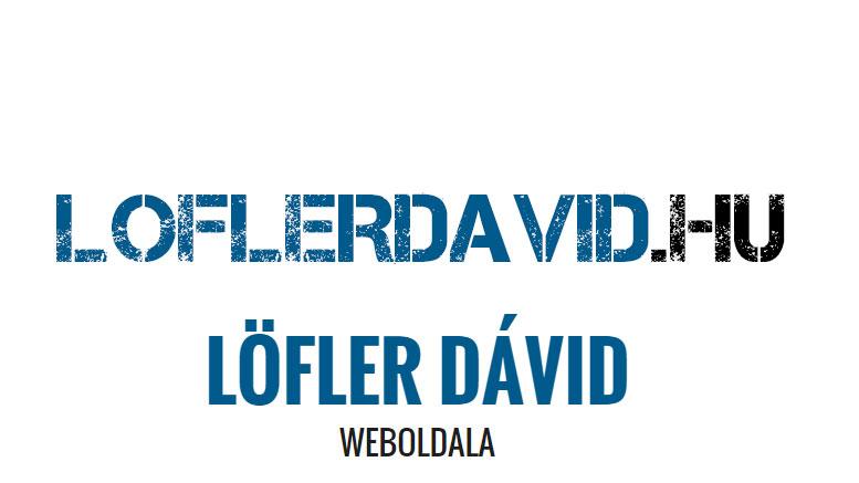 Löfler Dávid weboldala