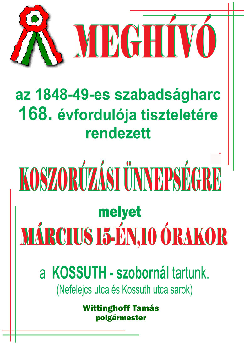 Március 15. Budaörs Városi rendezvény 2016