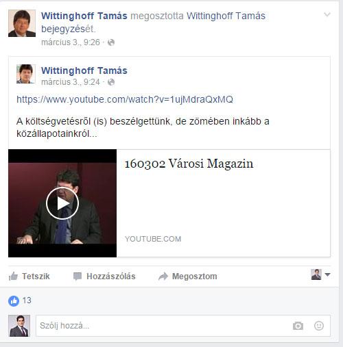 Wittingoff facebook cenzúrázva