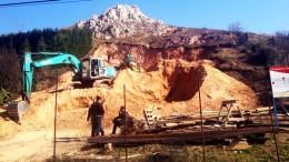 Kőhegy-rombolás Budaörs