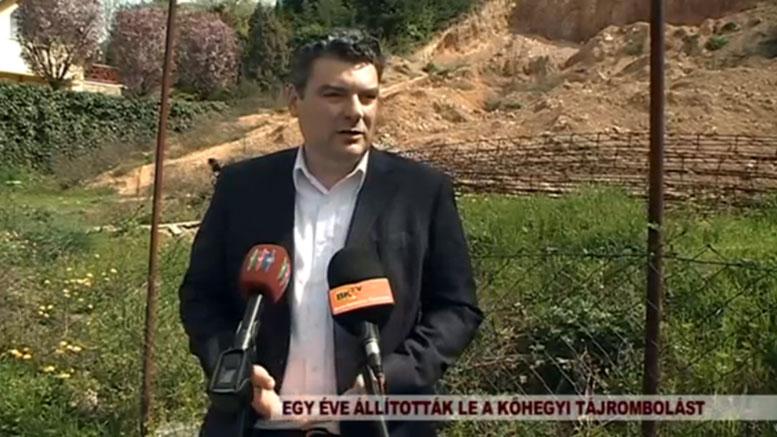 A budaörsi Fidesz sajtótájékoztatója a tájrombolásról