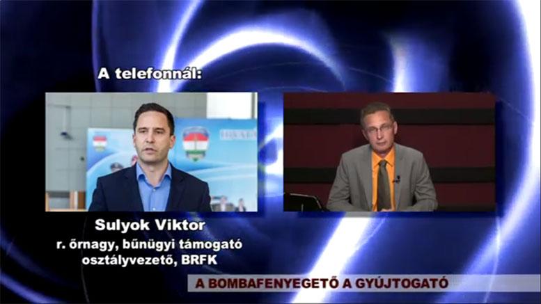 Bombafenyegető és gyújtogató BVTV riport