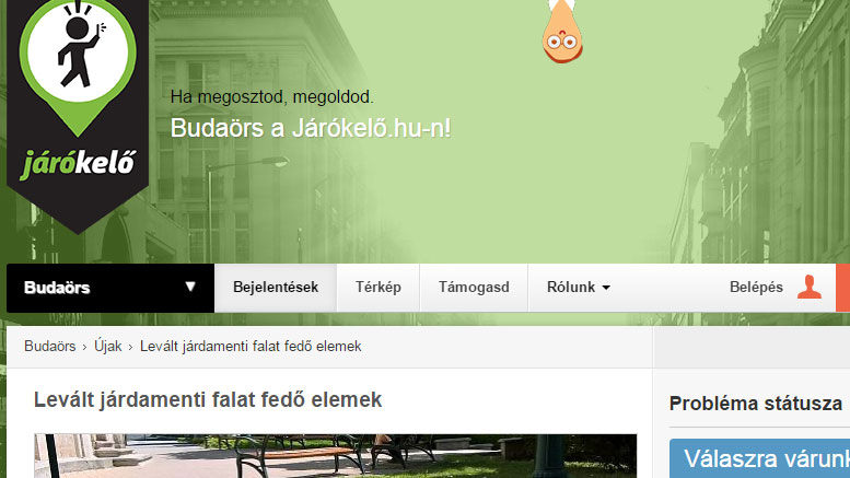 Az első bejelentés Budaörsről, a járókelő.hu-n