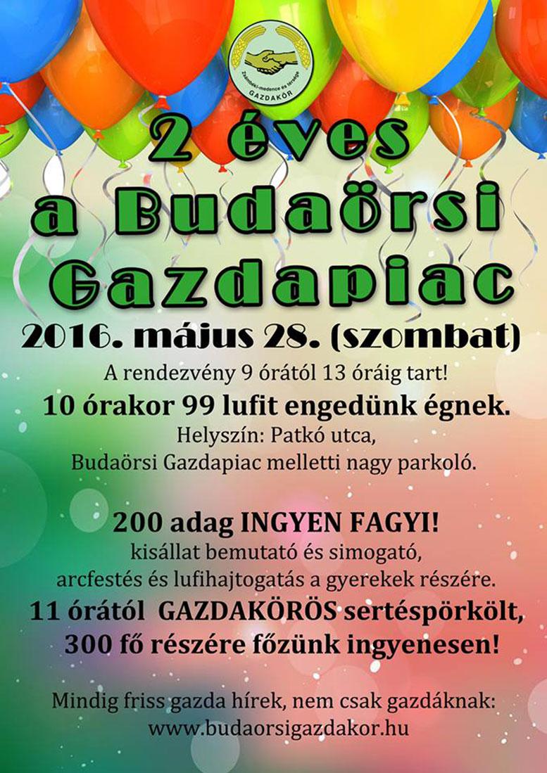 Kétéves a Budaörsi Gazdapiac Meghívó