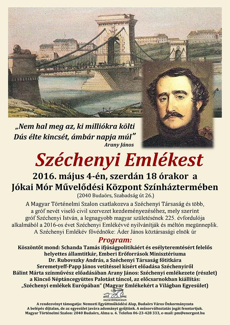 Széchenyi Emlékest meghívó