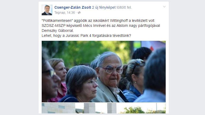 """""""Politikamentesen"""" aggódik az iskolákért Wittinghoff"""