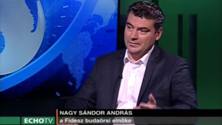Nagy Sándor András az Echo TV vendége volt.