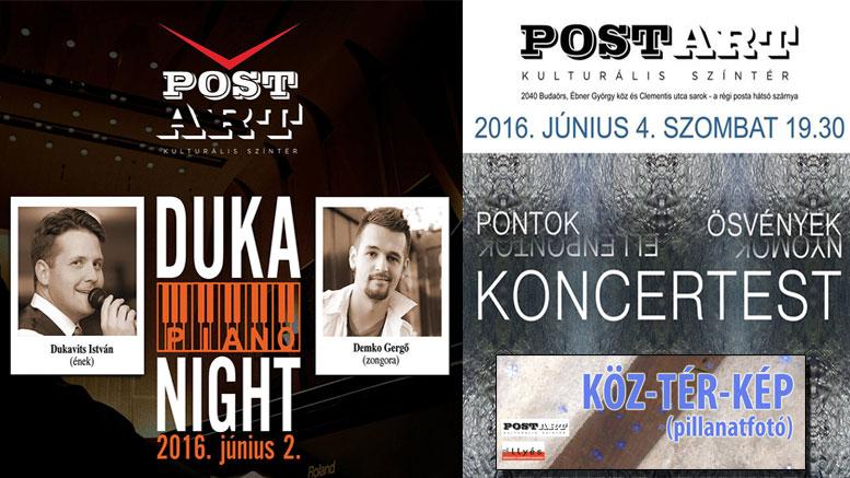 PostART hétvégi programok