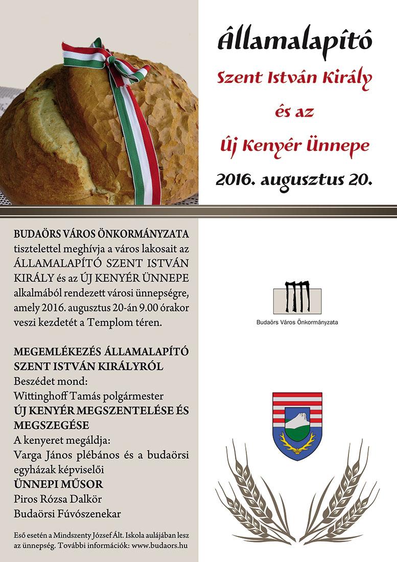 Államalapító Szent István király és az Új kenyér ünnepe