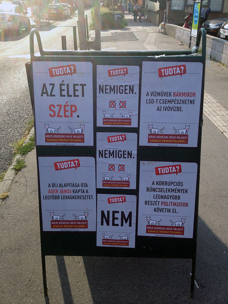 MKKP plakátok Budaörs Város hirdetőtábláin?!