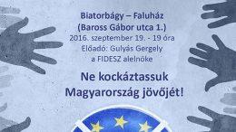 Gulyás Gergely – Ne kockáztassuk Magyarország jövőjét!