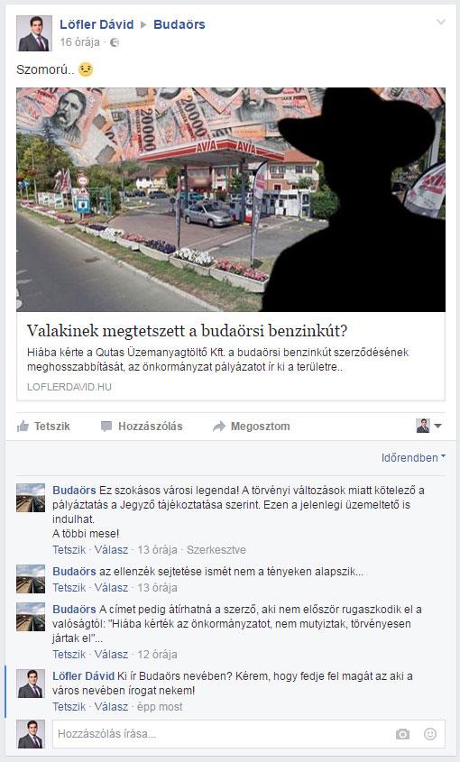 Ki válaszolgat Budaörs nevében a facebook-on???