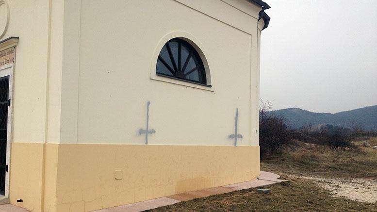 Megrongálták a Kőhegyi kápolnát és környékét
