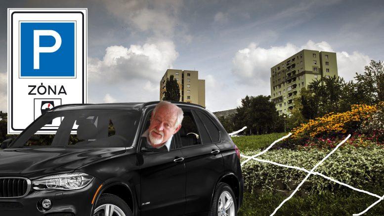Bíró Gyula javasolja a járdán parkolást a Budaörsi lakótelepen