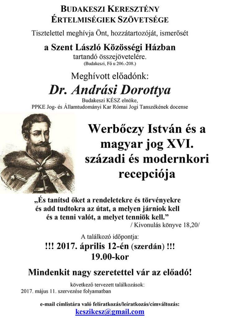 Werbőczy István és a magyar jog XVI. századi és modernkori recepciója
