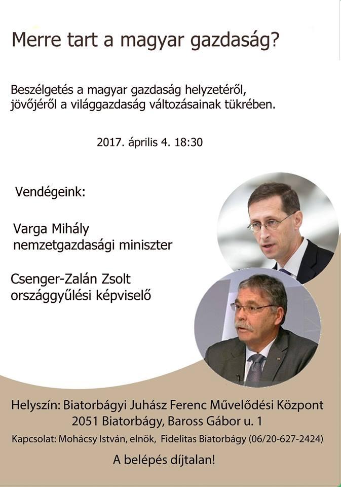 Merre tart a magyar gazdaság? Varga Mihály, Csenger-Zalán Zsolt