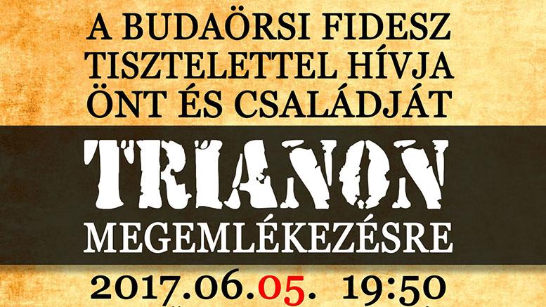 Trianon megemlékezés Budaörsön
