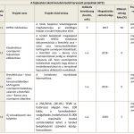 A fejlesztési akció keretén belül tervezett projektek (AT2)