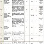 A fejlesztési akció keretén belül tervezett projektek (AT4)