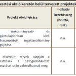 A fejlesztési akció keretén belül tervezett projektek (AT6)