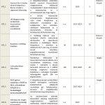 A fejlesztési akció keretén belül tervezett projektek (AT1)