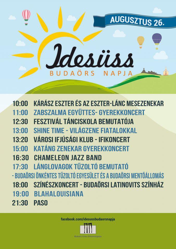 Idesüss Budaörs! 2017 - Nyárbúcsúztató fesztivál augusztus 26-án