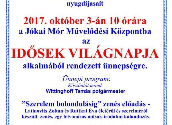 Idősek világnapja Budaörsön a Jókai Mór Művelődési Központban