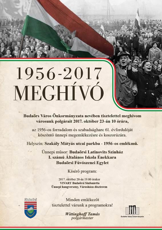 MEGHÍVÓ az 1956-os forradalom és szabadságharc 61. évfordulójára
