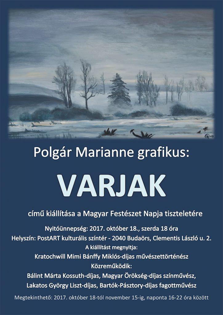 Polgár Marianne grafikus: VARJAK című kiállítása