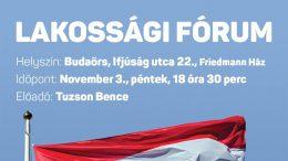Lakossági fórum Budaörsön! Előadó: Tuzson Bence