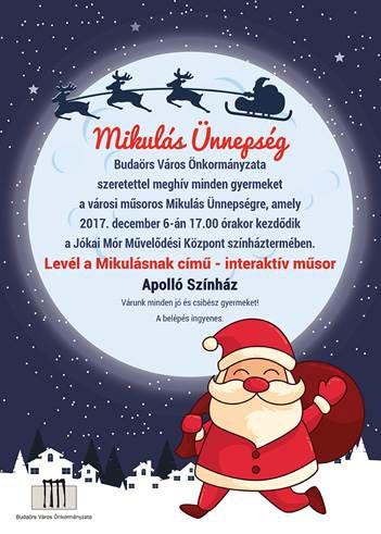 December 6-án érkezik a Mikulás Budaörsre