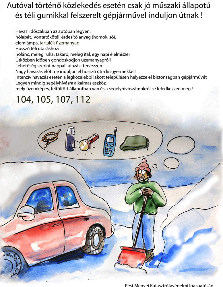 A katasztrófavédelem tanácsai hideg időjárás esetére