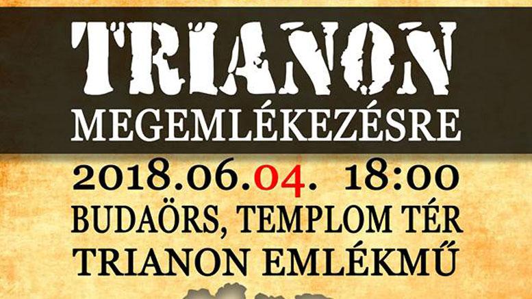 Trianon megemlékezés Budaörsön 2018.
