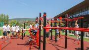 Kültéri kondipark nyílt az uszoda mellett Budaörsön
