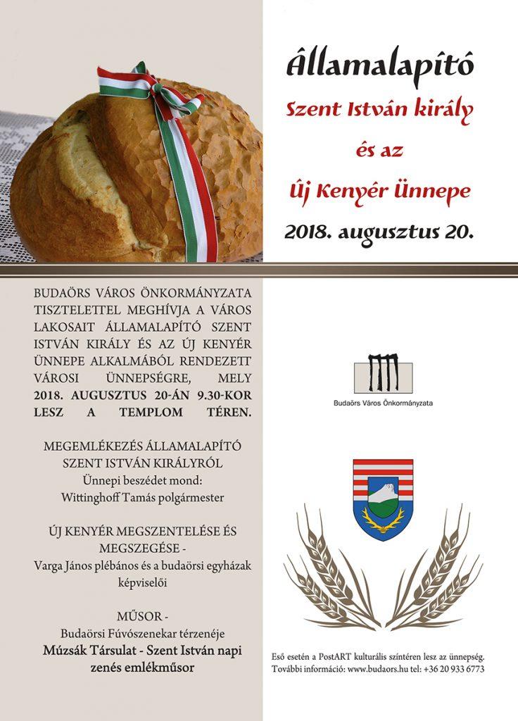 Augusztus 20-ai ünnepség Budaörsön 2018.