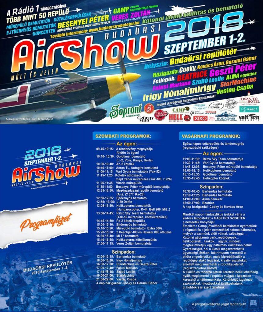 Múlt és jelen: Budaörsi Air Show 2018. – program