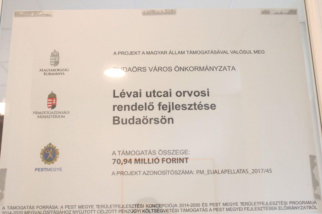 Megújult a Lévai utcai rendelő, a beruházásra 70,94 millió forint támogatást nyert Budaörs