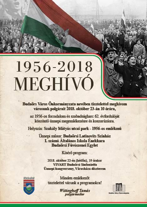 Október 23-ai városi megemlékezés Budaörsön
