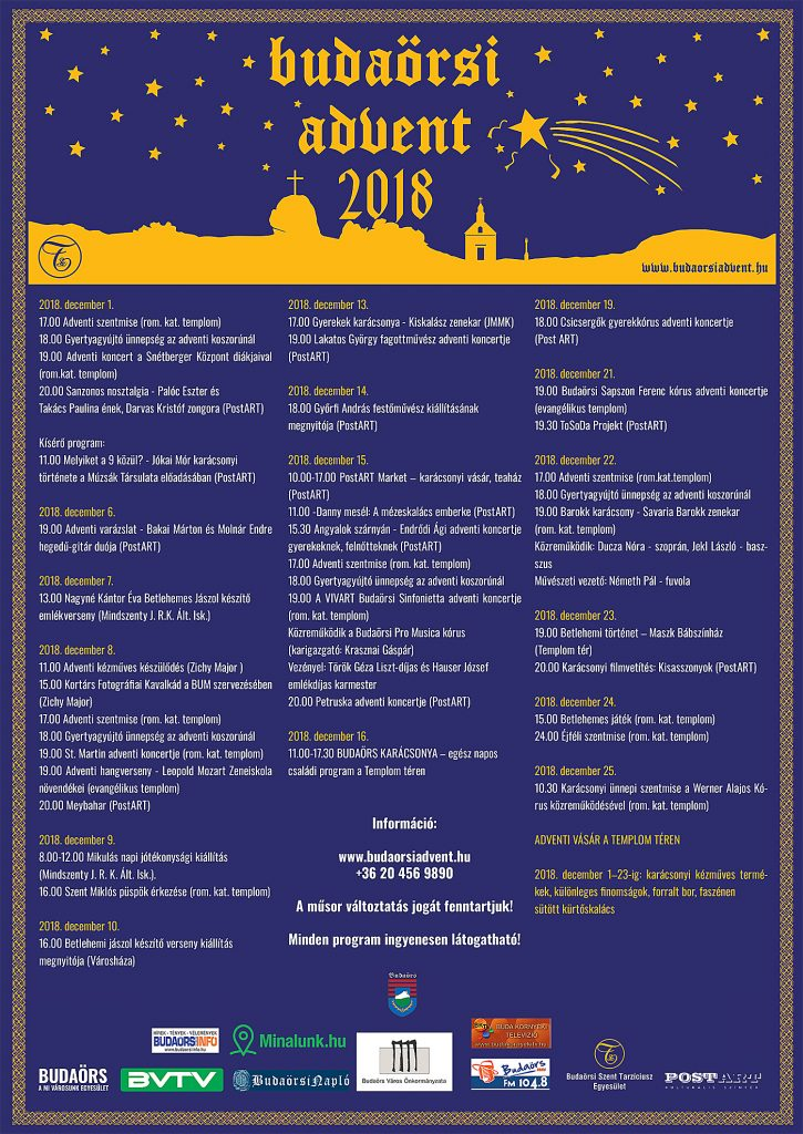 Budaörsi Advent 2018. program
