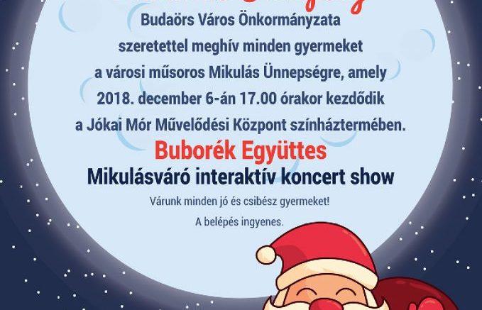 December 6-án jön a városi Mikulás Budaörsre