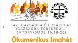 Ökumenikus imahét Budaörsön 2019. január 21-25.