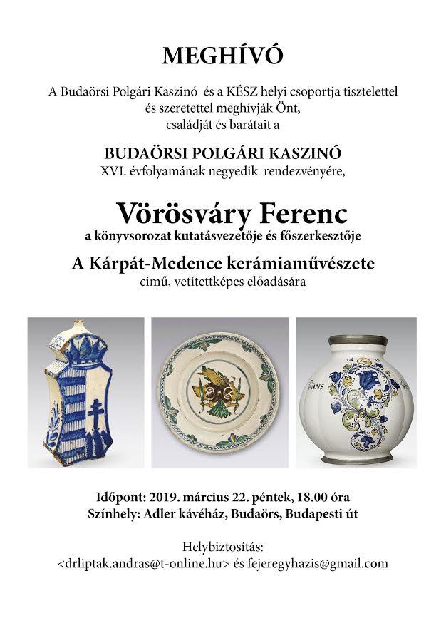 A Kárpát-Medence kerámiaművészete - előadás