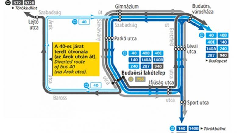 A végállomás átépítése miatt módosul a buszközlekedés Budaörsön