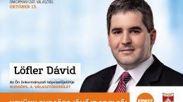 Löfler Dávid a 4. számú választókerület képviselőjelöltje Budaörsön