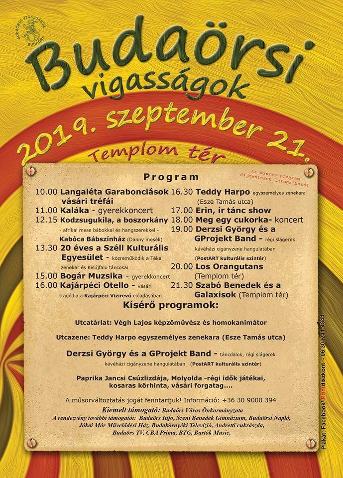 Budaörsi vigasságok 2019. program