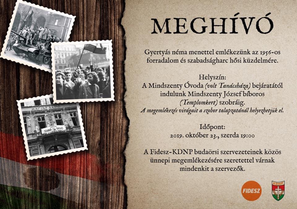 Meghívó a Fidesz-KDNP október 23-i megemlékezésre