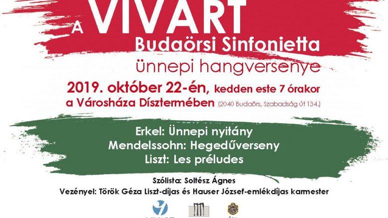 VIVART Budaörsi Sinfonietta ad hangversenyt a Városházán