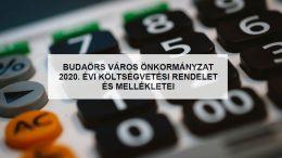 Nyilvánosságra került Budaörs Város 2020. évi költségvetésének tervezete
